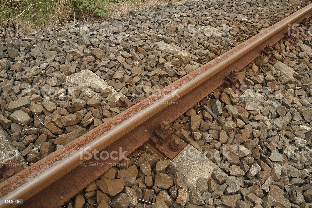 iron rail , screw, detail royalty-free stock photo