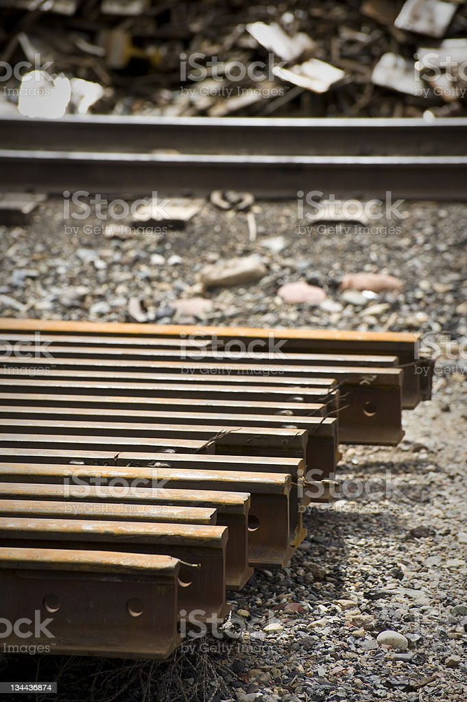 Iron Rail Steel Rusted Girders royalty-free stock photo