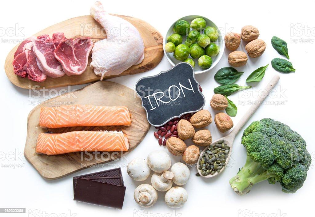 Iron rich foods stock photo