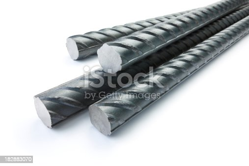 construction rods against white background