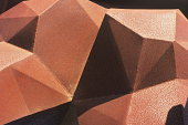 Geometric Decor Set - Icosphere isolated on a White Studio Background