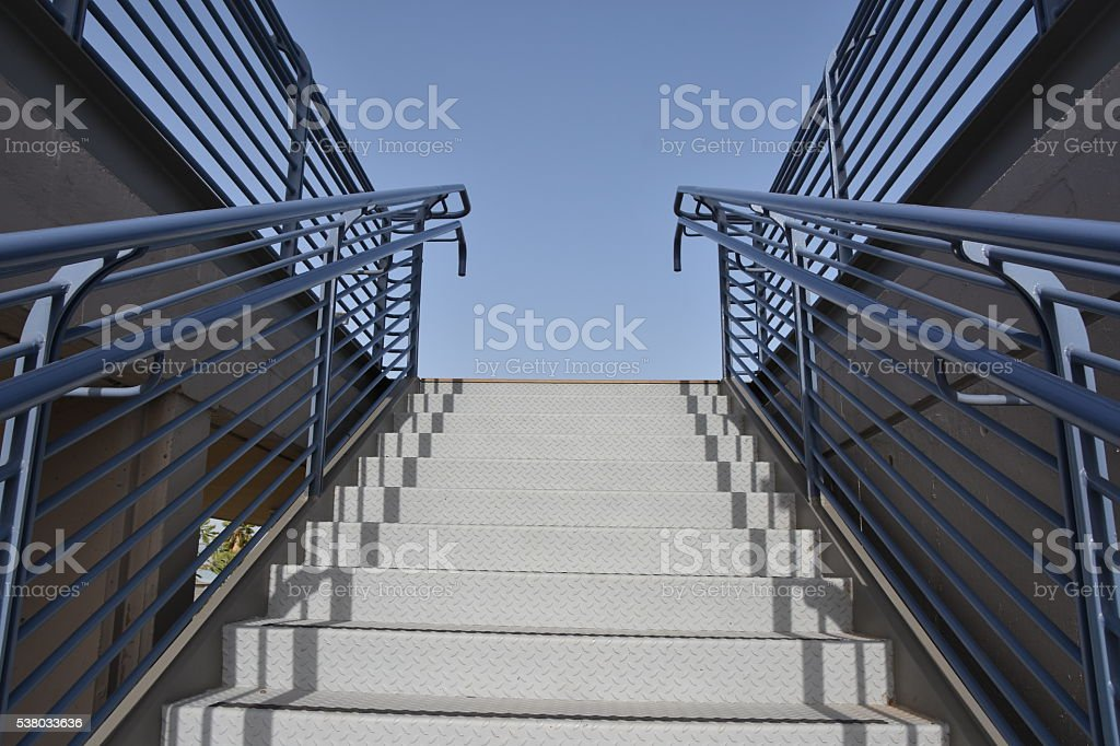 Iron stairs stock photo