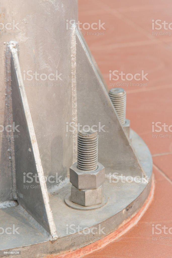 Noeud du fer vis en acier dans l'industrie. photo libre de droits