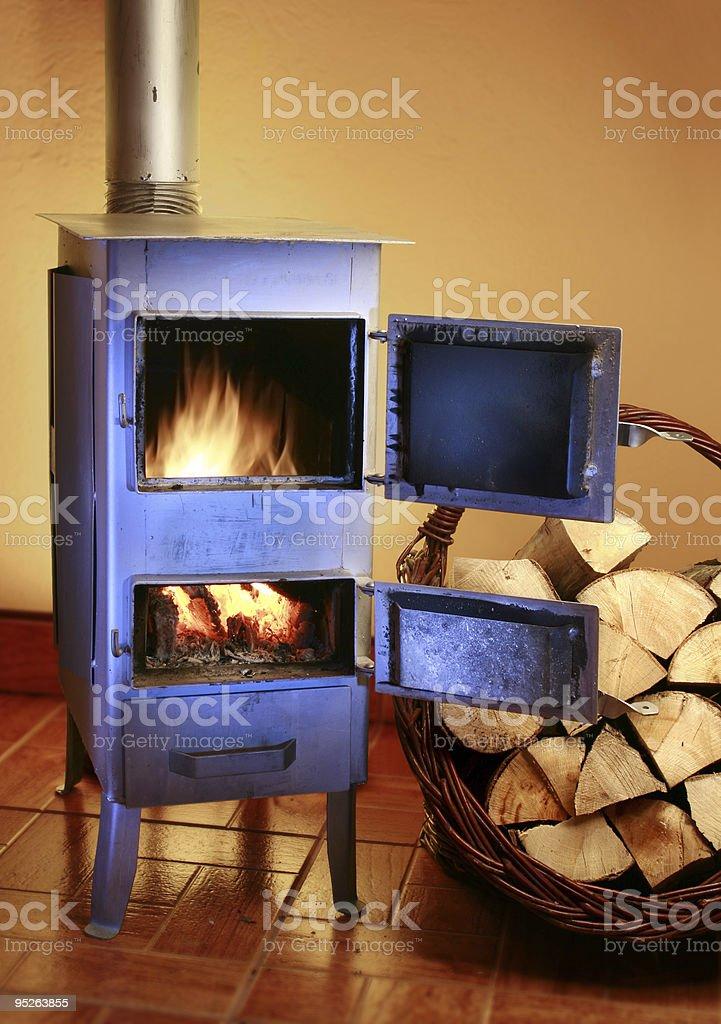 iron stove stock photo