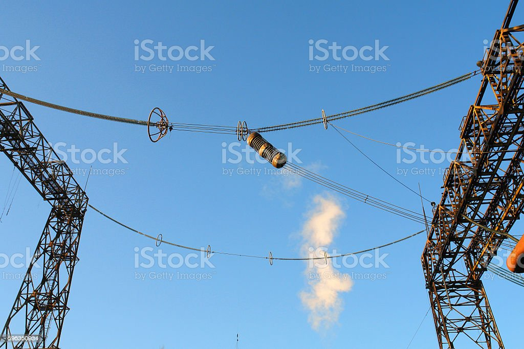 iron structures for electrical scientific experiments and research Lizenzfreies stock-foto