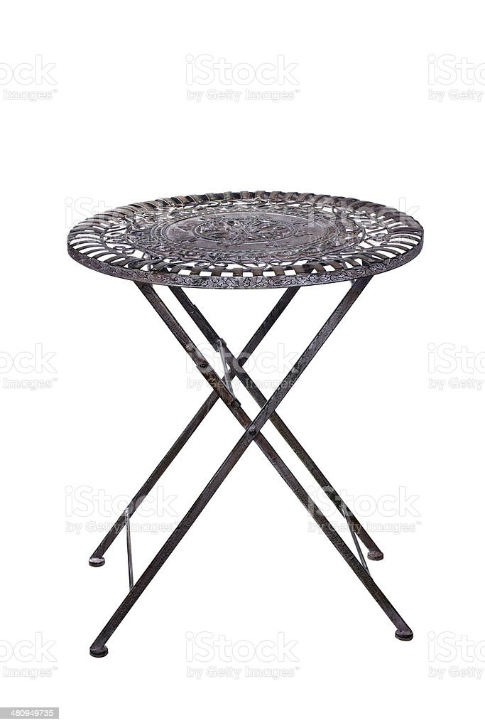 Iron table, table stock photo