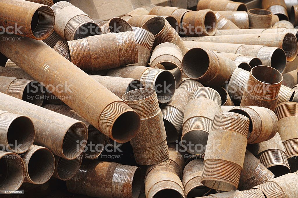Iron tube royalty-free stock photo