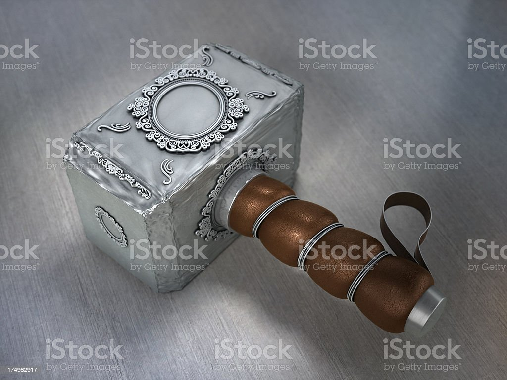 Iron warhammer stock photo