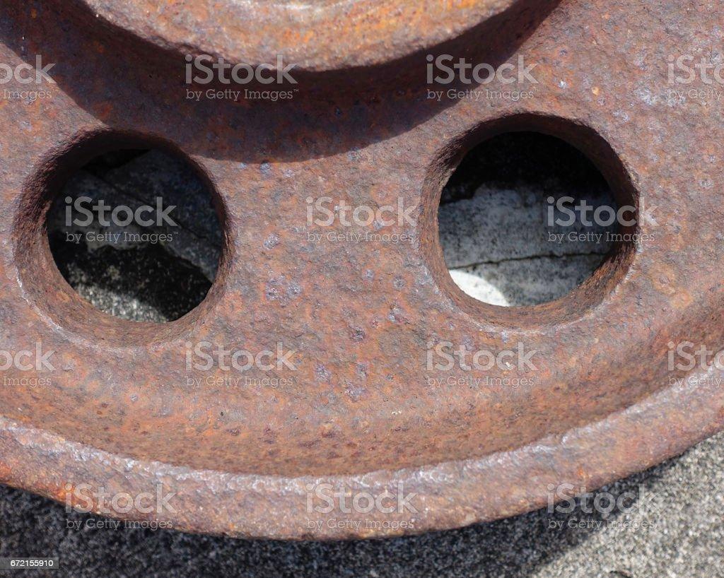 Iron Wheel stock photo