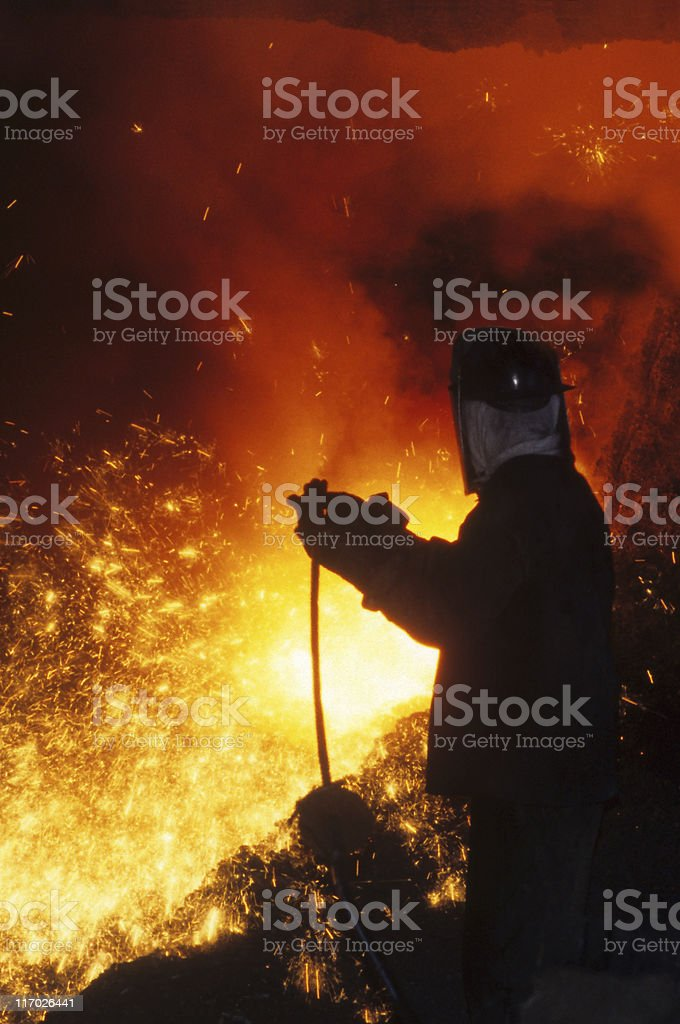 Iron worker royalty-free stock photo