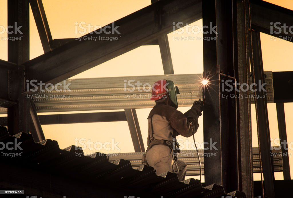 Iron Worker Welding stock photo