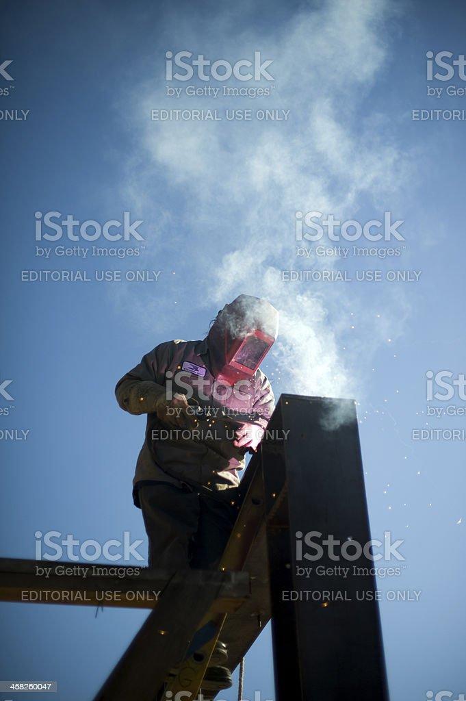 iron worker welding royalty-free stock photo