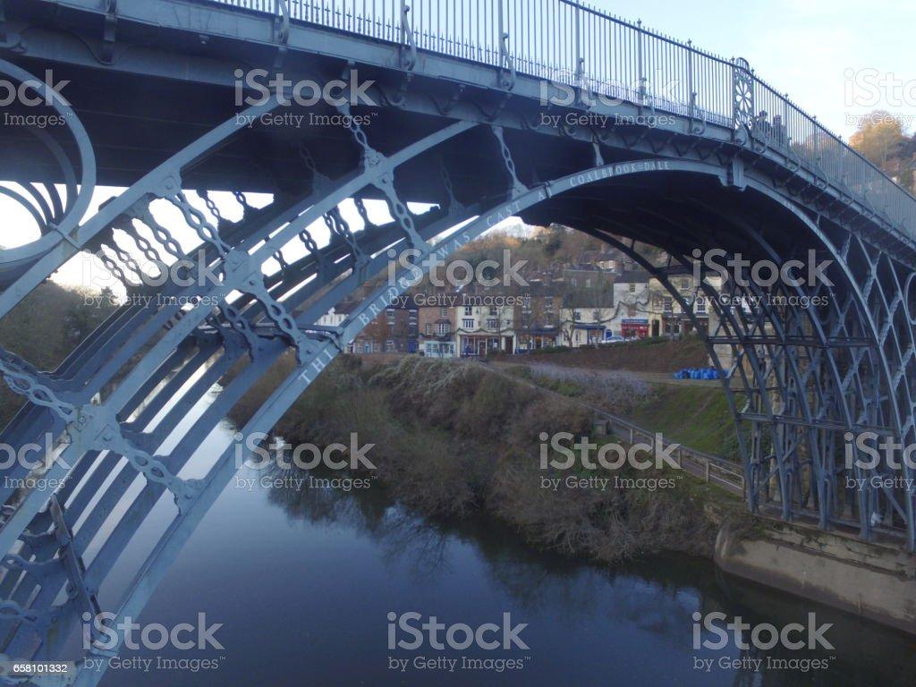Ironbridge Aerial View royalty-free stock photo