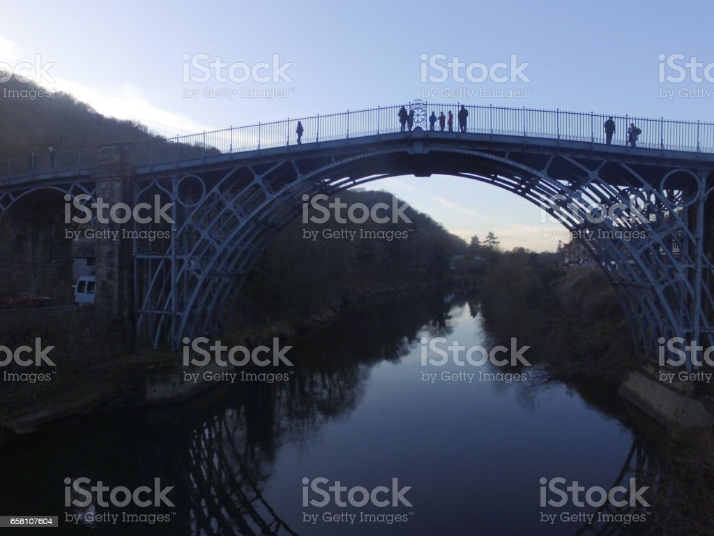 Ironbridge Aerial View royalty-free stock photo