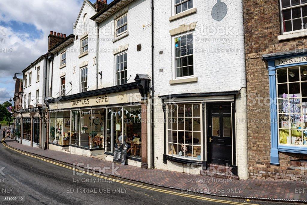 Ironbridge High Street, Shropshire, England stock photo