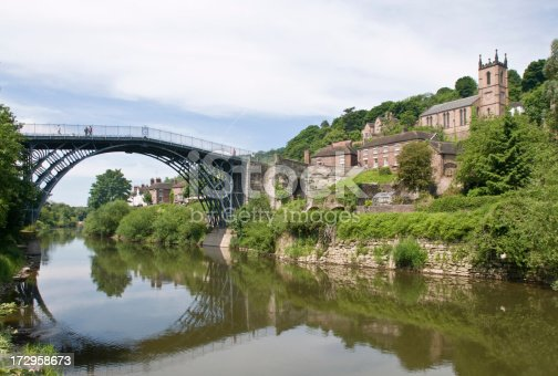 Ironbridge over the river Severn in Telford England
