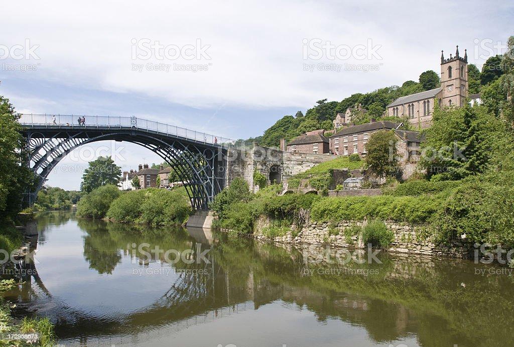 Ironbridge in Telford stock photo