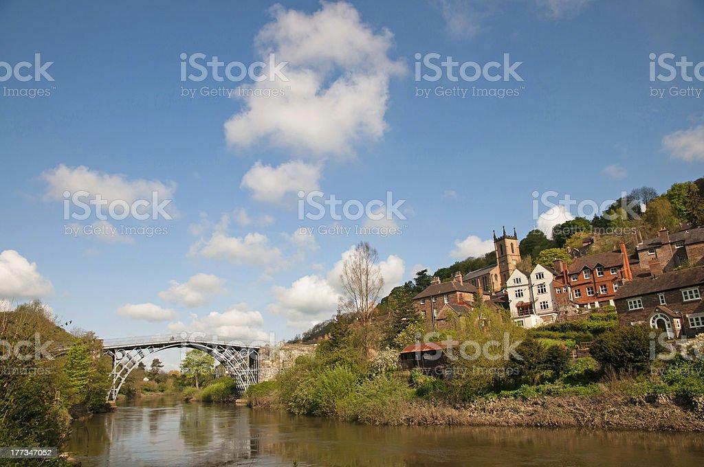 Ironbridge over the river Severn stock photo