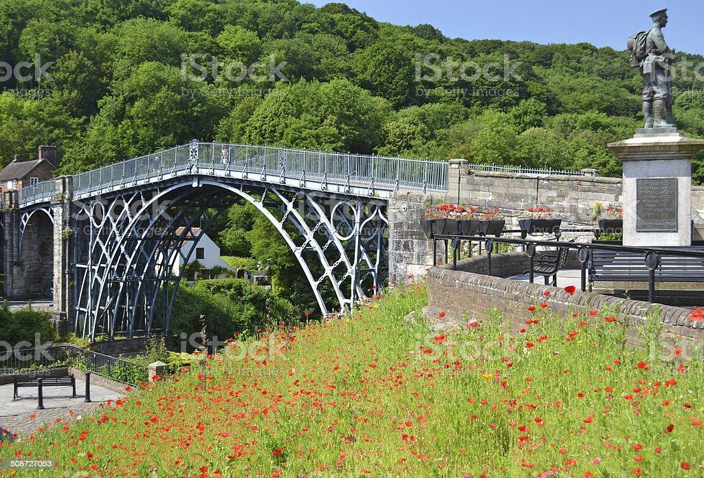 Ironbridge Poppy Memorial stock photo