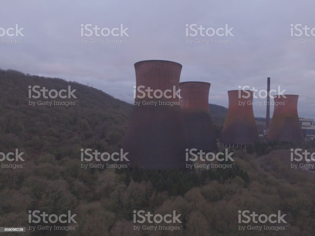 Ironbridge Power Station from the River side royalty-free stock photo