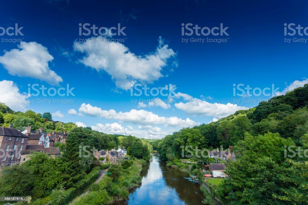 Ironbridge Telford stock photo