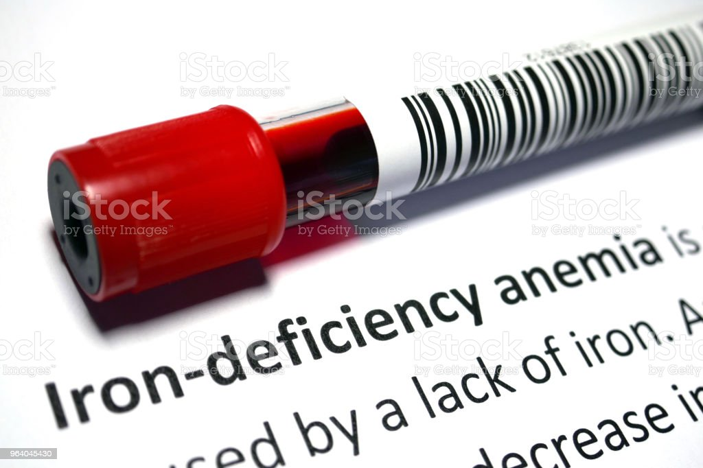 Iron-deficiency anaemia - Royalty-free Analyzing Stock Photo