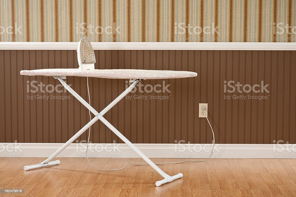 Ironing Board And Iron royalty-free stock photo