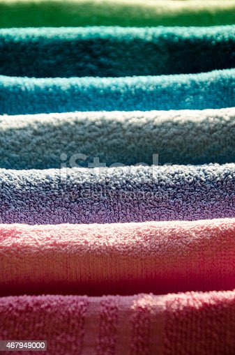 901620964 istock photo Ironing colorful towels 467949000