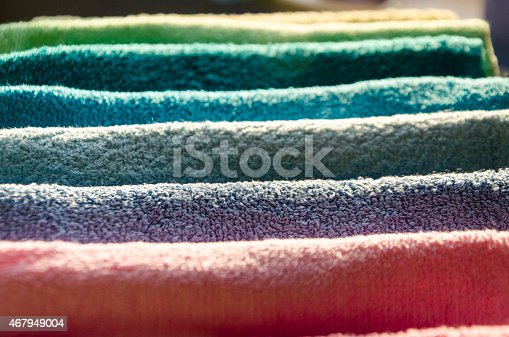 901620964 istock photo Ironing colorful towels 467949004
