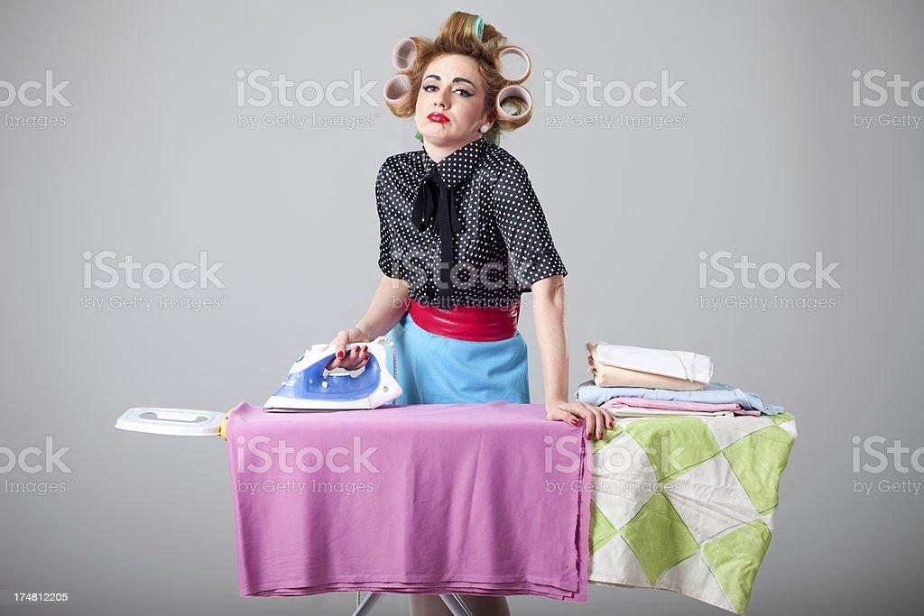 Ironing laundry royalty-free stock photo