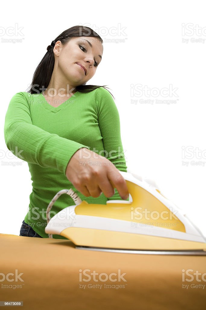 ironing woman royalty-free stock photo