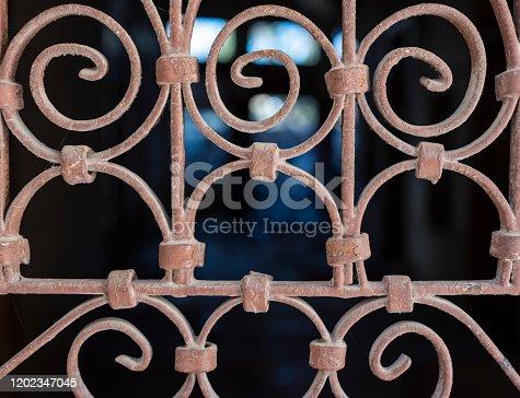 Ironwork fence. Taken Via Drone