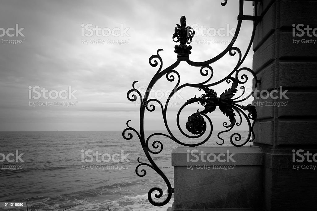 Ironwork fence. stock photo