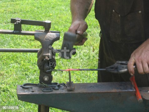 istock Ironworking Demonstration 90159918