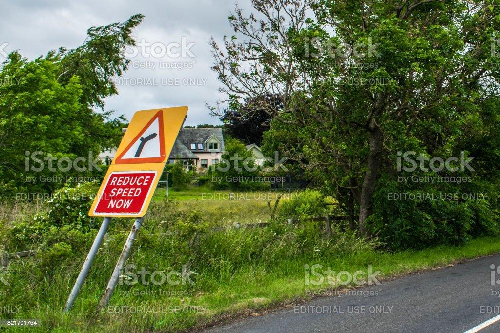 Irony on the roadside stock photo