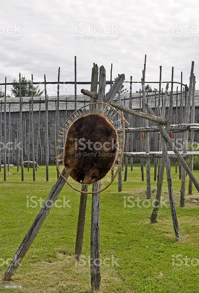Iroquois Artifacts, Summer stock photo