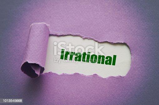 Irrational written under torn paper.