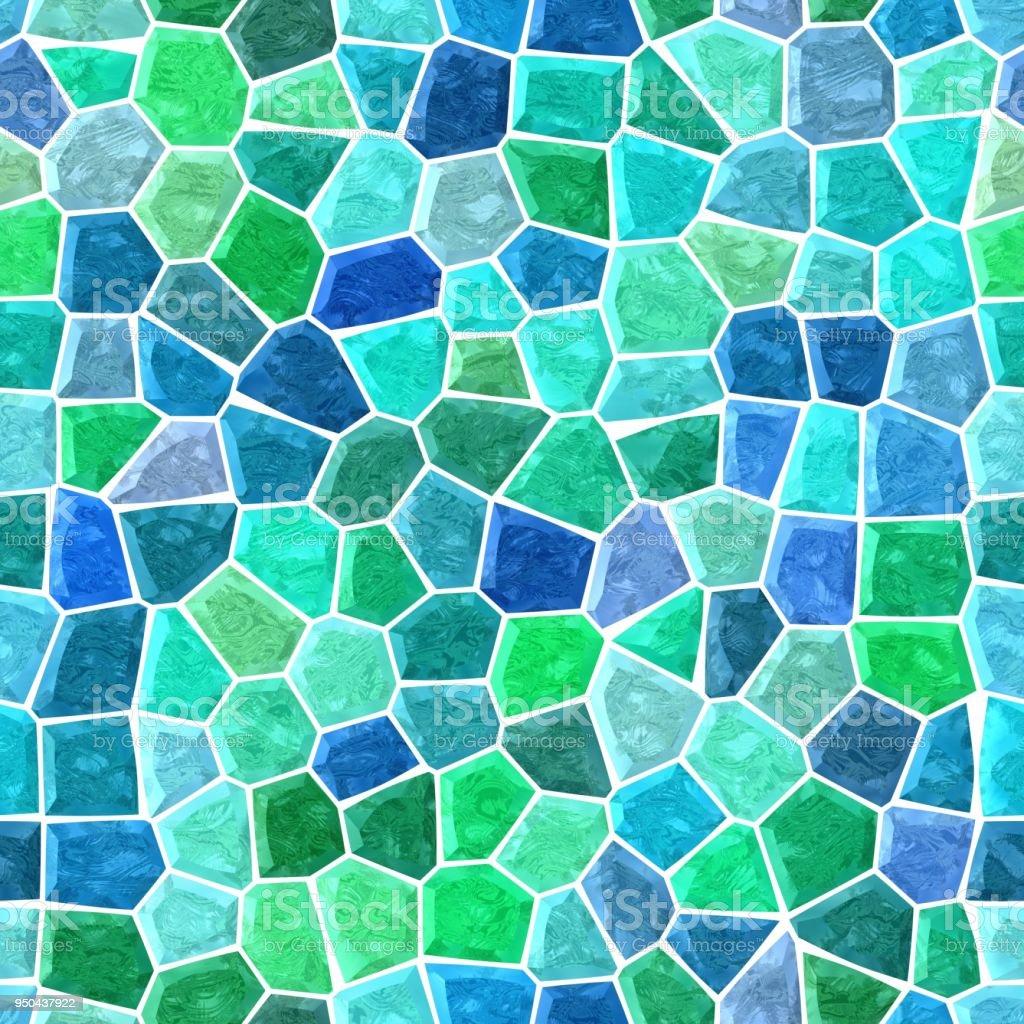 irregular mosaic background pavement blue green colored stock photo