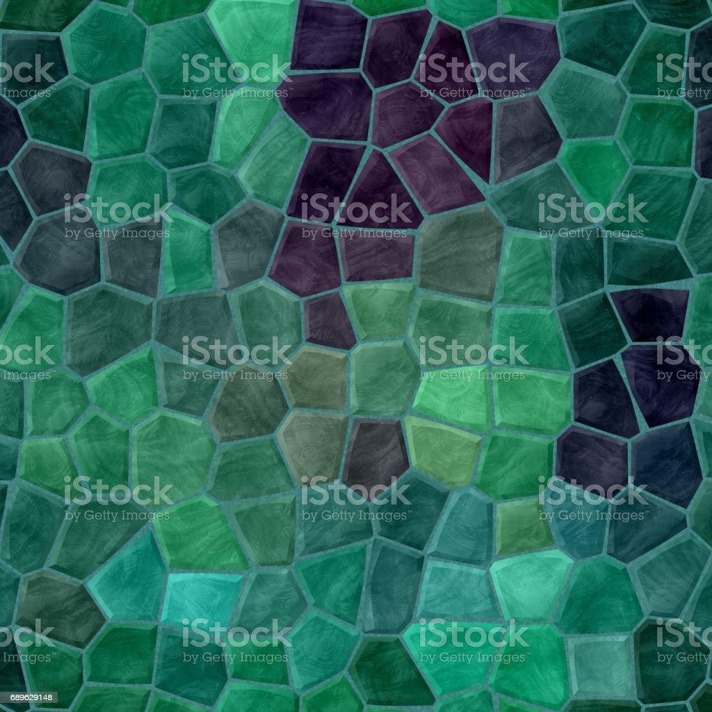 irregular mosaic background - pavement emerald green colored stock photo