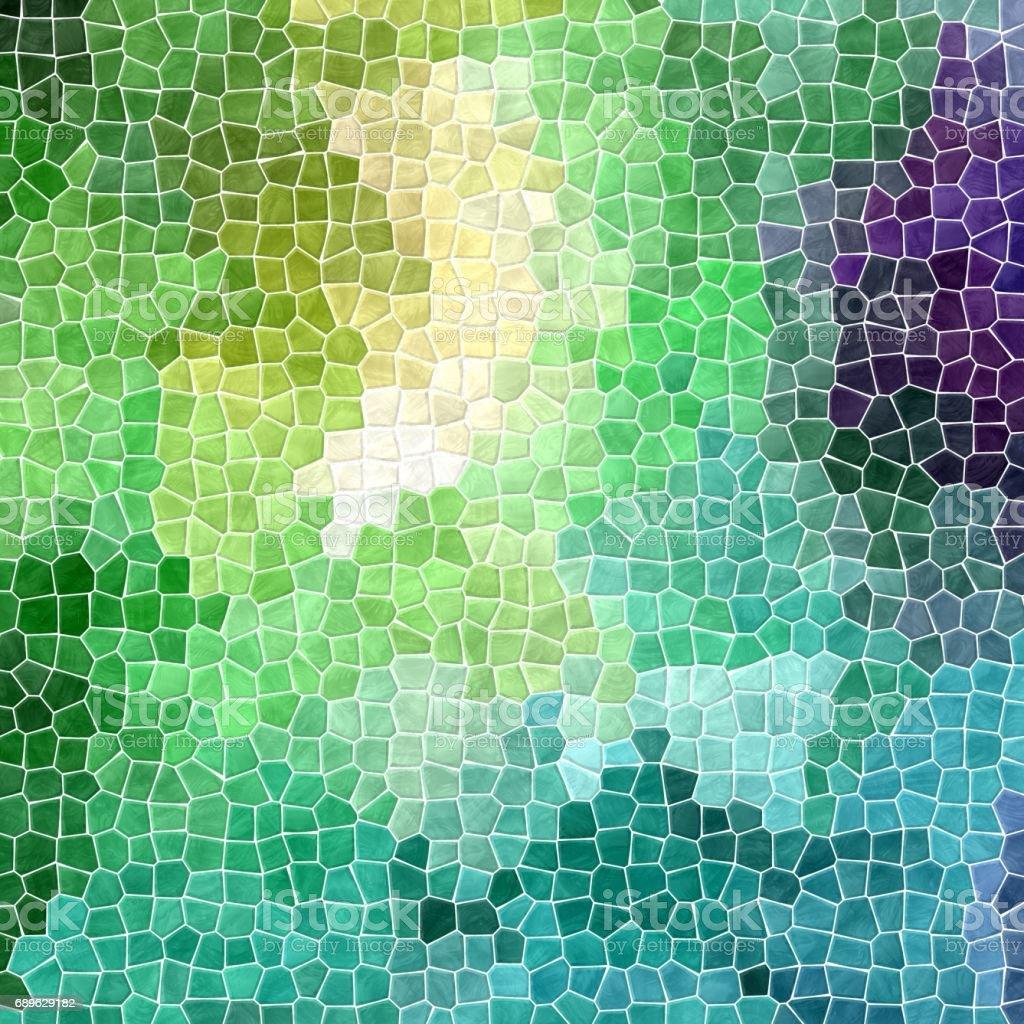 irregular mosaic background - pavement fresh spring green colored stock photo