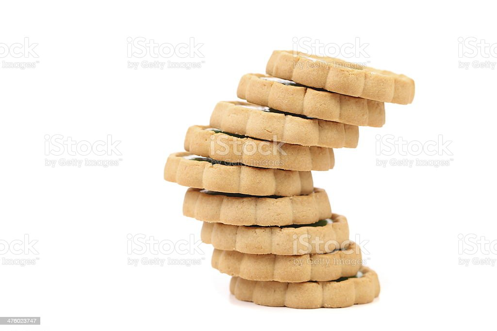 Irregular stack of biscuit. royalty-free stock photo