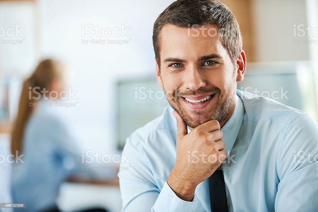 Irresistible corporate charm. stock photo