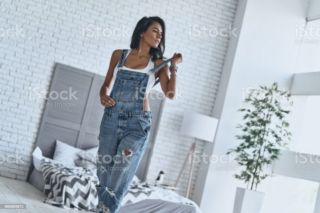 Stories of women looking sexy in bib overalls