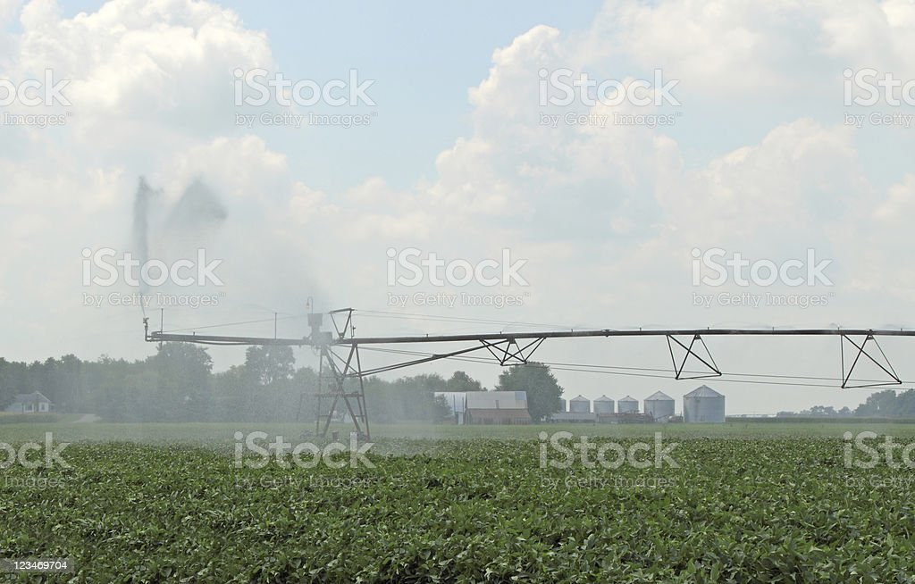Irrigating Farmland royalty-free stock photo