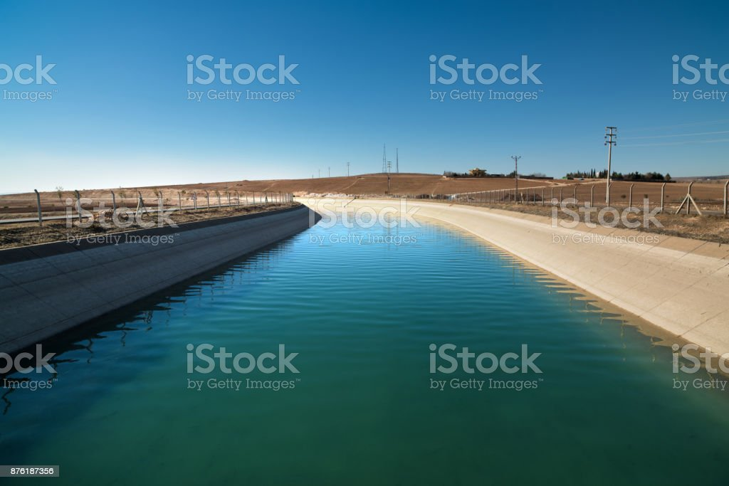 irrigation channel stock photo
