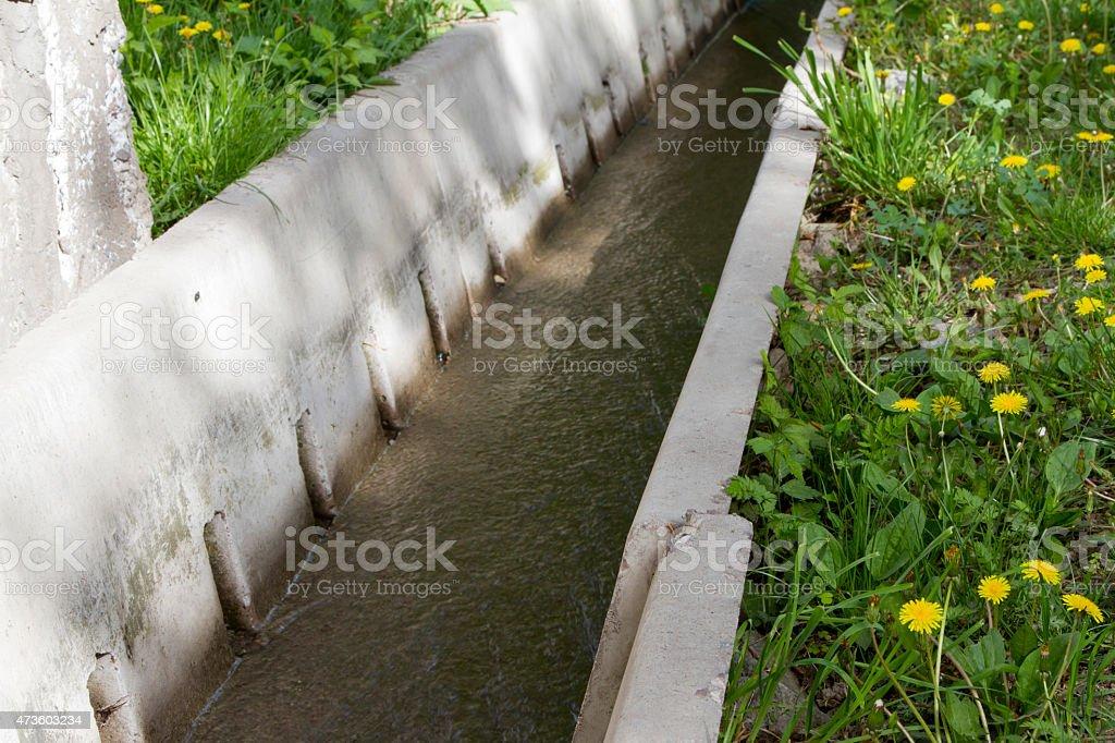 irrigation ditch stock photo