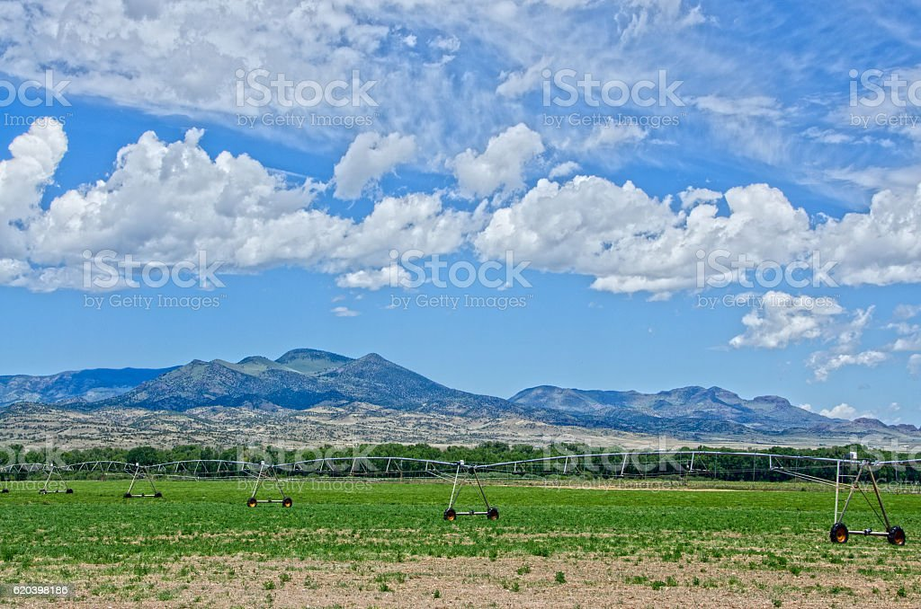 Irrigation in the San Luis Valley stock photo