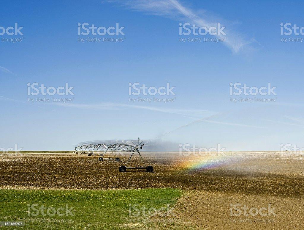 Irrigation rainbow 1 royalty-free stock photo