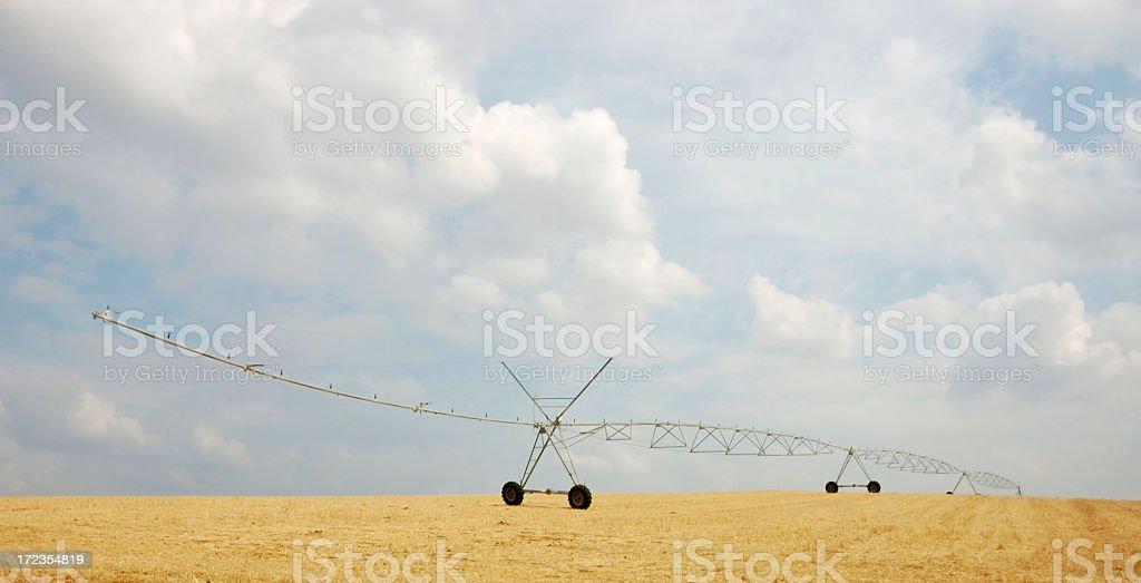 Irrigation sprinkler, Alentejo, Portugal royalty-free stock photo