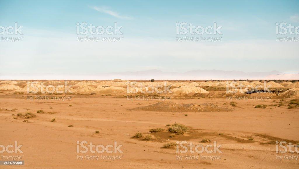 Bewässerungs-System in der Sahara Wüste, Marokko – Foto